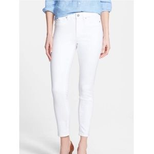 Vince White Cotton Skinny Jeans Pants